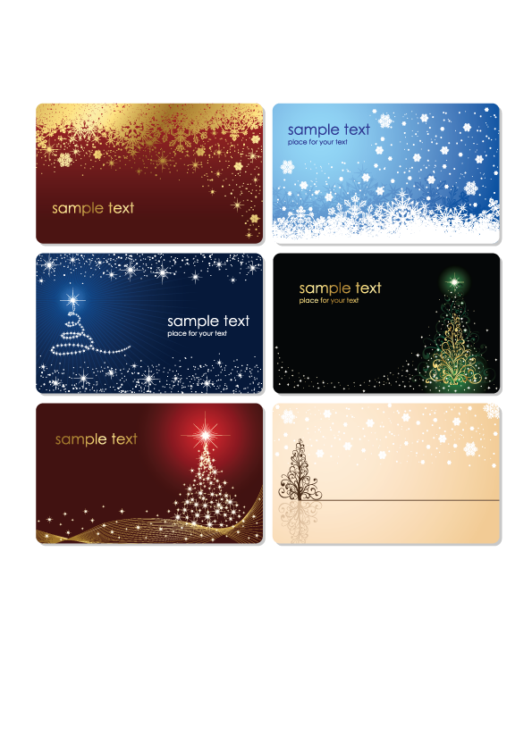 free vector Christmas Cards Vector Set