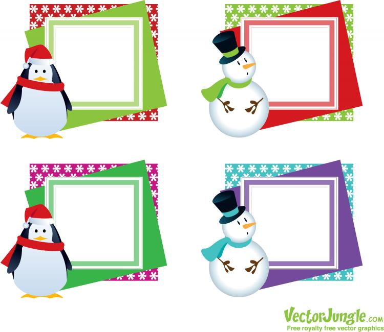 free vector Christmas cards with the tag vector