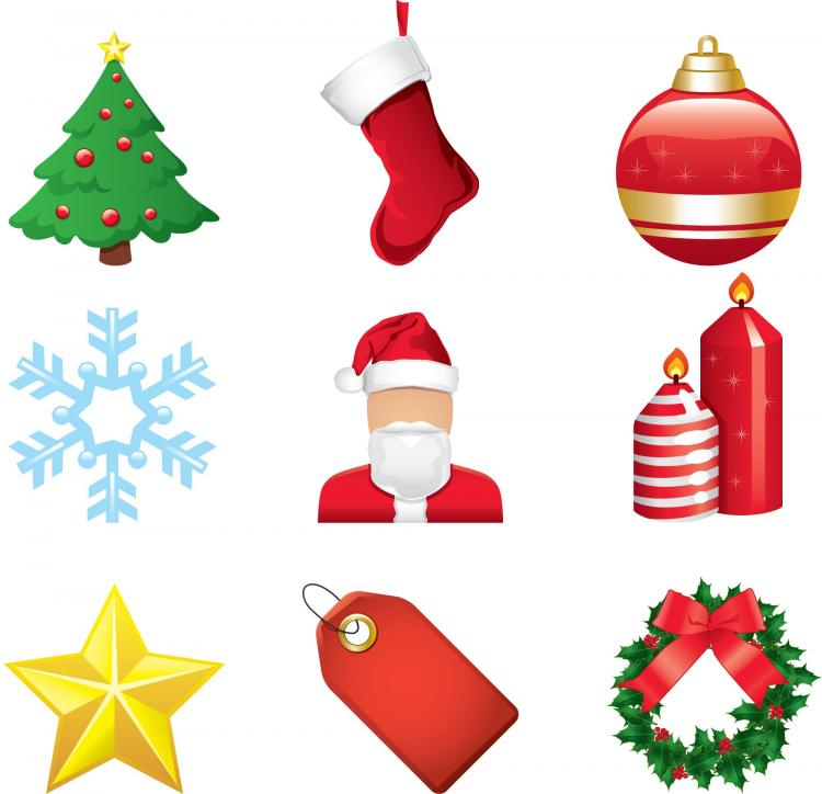 free vector Christmas cartoon elements vector
