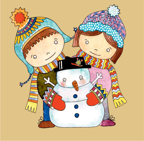 free vector Christmas cartoon illustration 05 vector