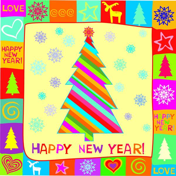 free vector Christmas cartoon illustration vector