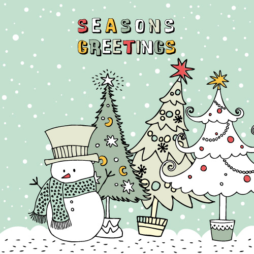 free vector Christmas cartoon illustration vector