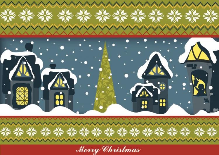 free vector Christmas cartoon illustrator 05 vector