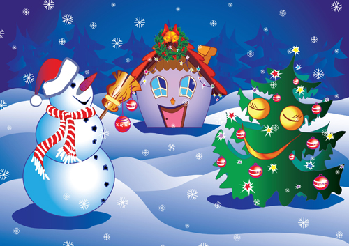 free vector Christmas cartoon vector