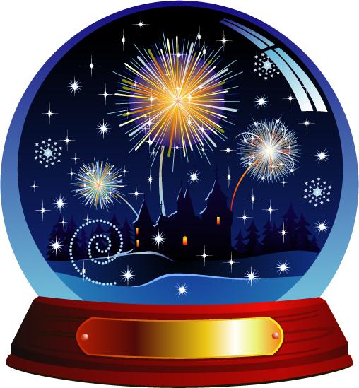 free vector Christmas crystal ball and sales tag vector