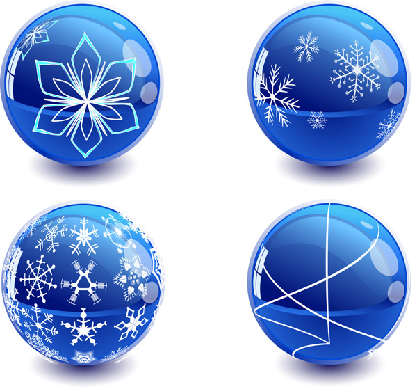 free vector Christmas crystal ball vector