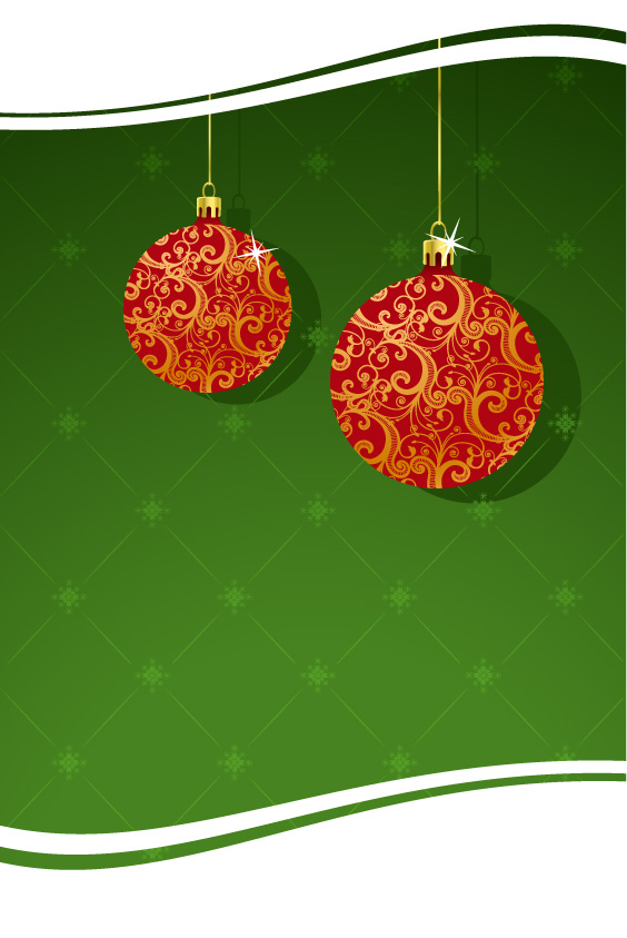 free vector Christmas decoration 2 element vector material