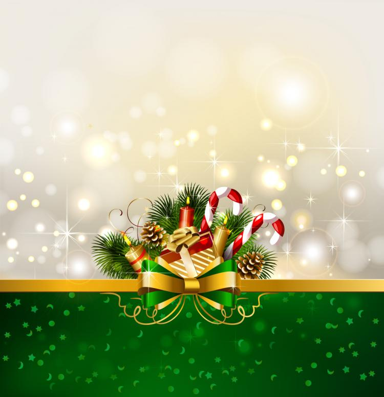 Christmas decoration background 01 vector free vector for Background decoration