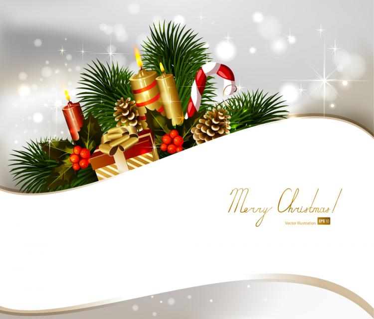 Christmas decoration background 02 vector free vector for Decorate pictures