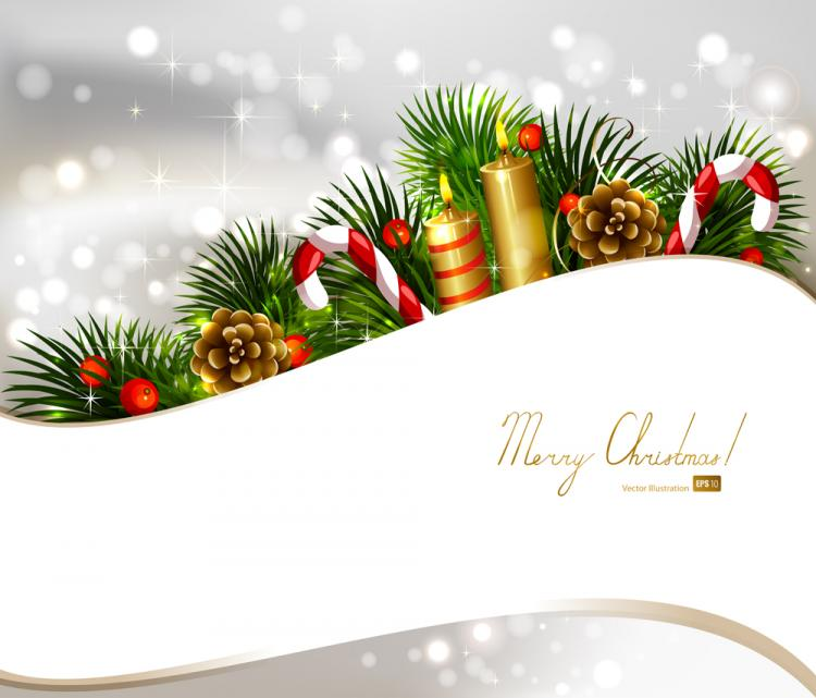 Christmas decoration background 03 vector free vector for Background decoration images
