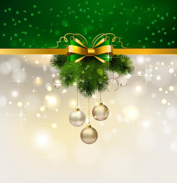 Christmas Decoration Background 04 Vector Free Vector