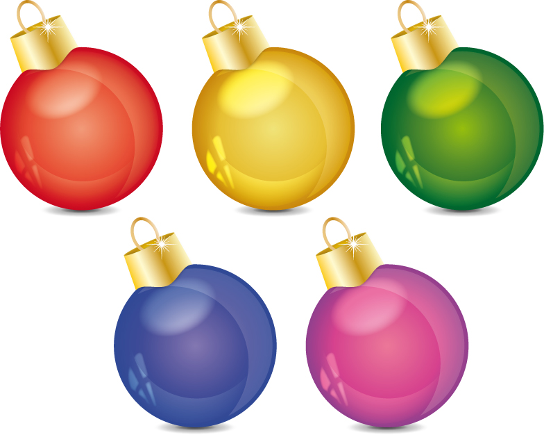 free vector Christmas decoration ball vector