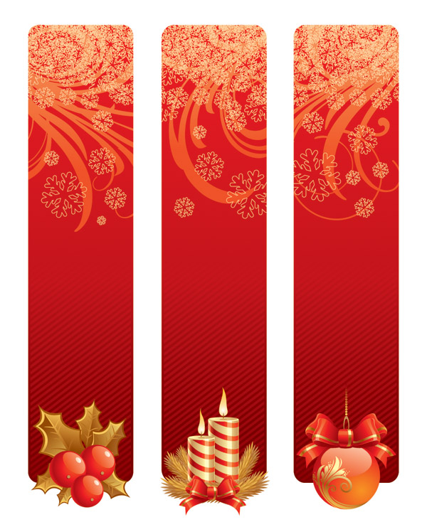 free vector Christmas decorative banner vector