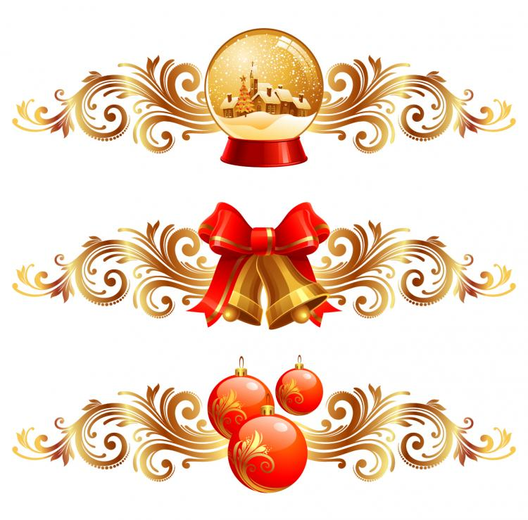 free vector Christmas design elements 01 vector