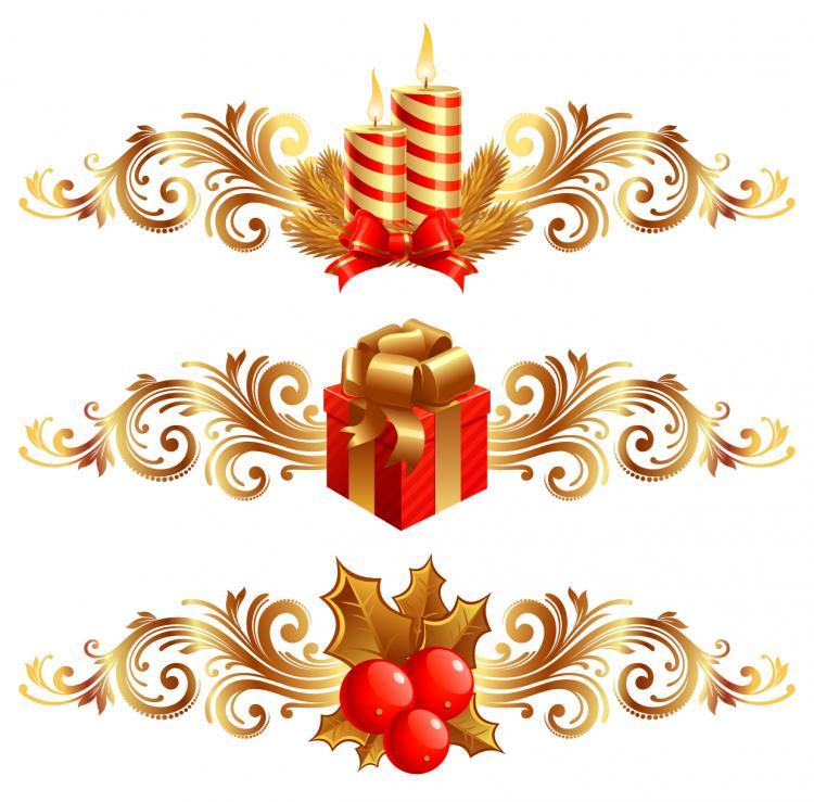 ... free vector Christmas design elements 01 vector ...