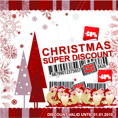 free vector Christmas discount sales vector