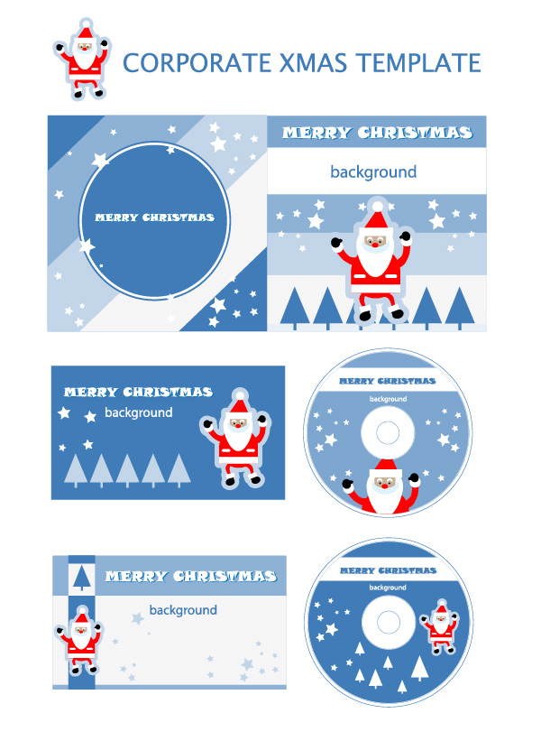 free vector Christmas element vector templates
