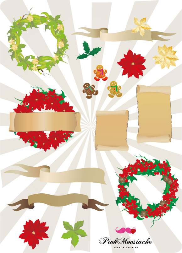 free vector Christmas element vector