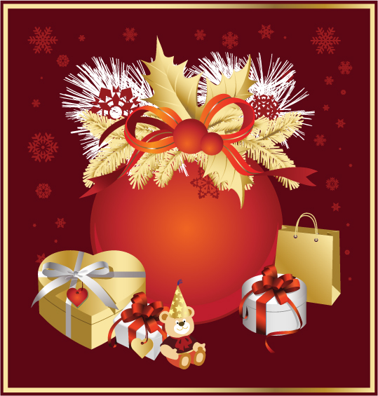 free vector Christmas element vector