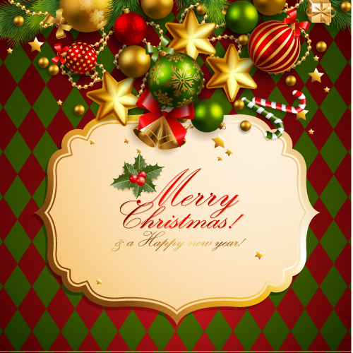 free vector Christmas elements background 01 vector