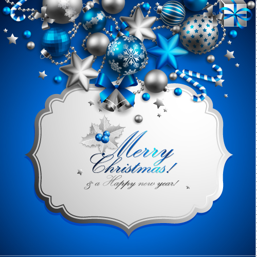 free vector Christmas elements background 02 vector