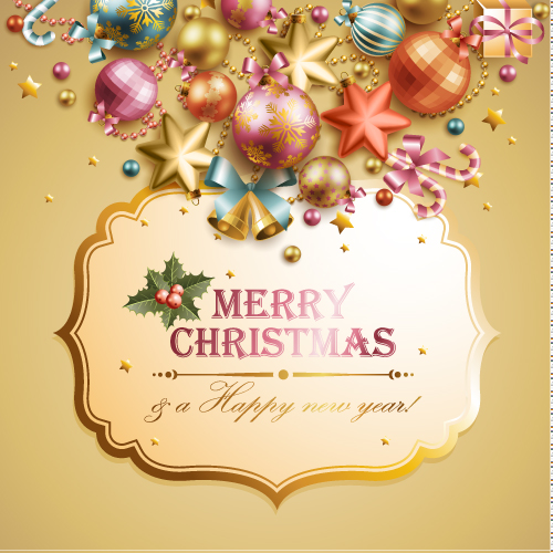free vector Christmas elements background 04 vector