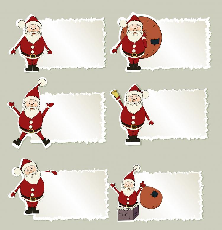 free vector Christmas elements stickers 03 vector