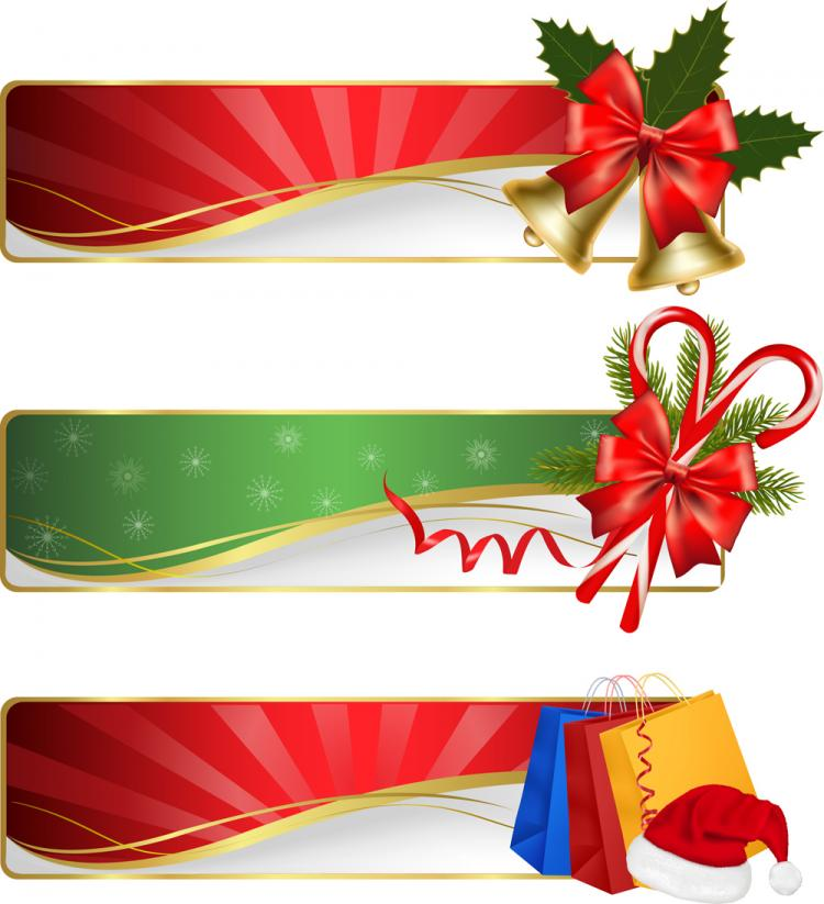 free vector Christmas exquisite element 02 vector