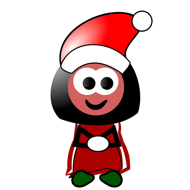 free vector Christmas Girl