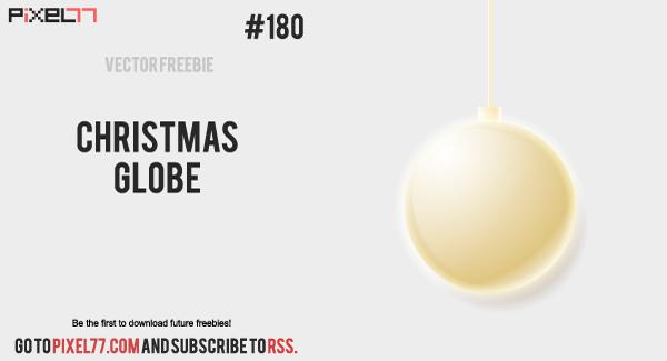 free vector Christmas Globe