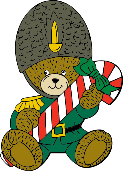 free vector Christmas Guard Bear clip art