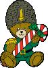 free vector Christmas Guard Bear clip art