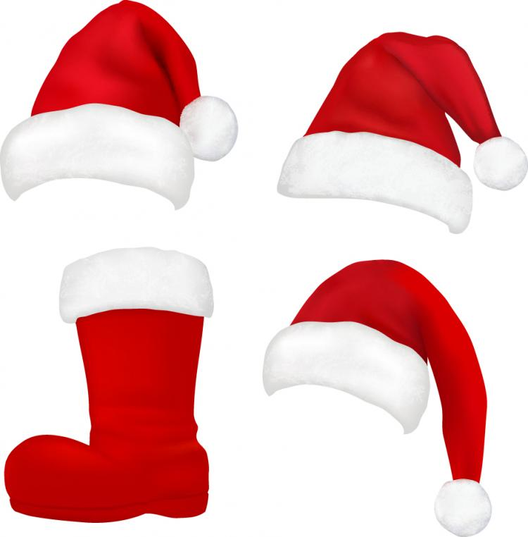 free vector Christmas hats 04 vector