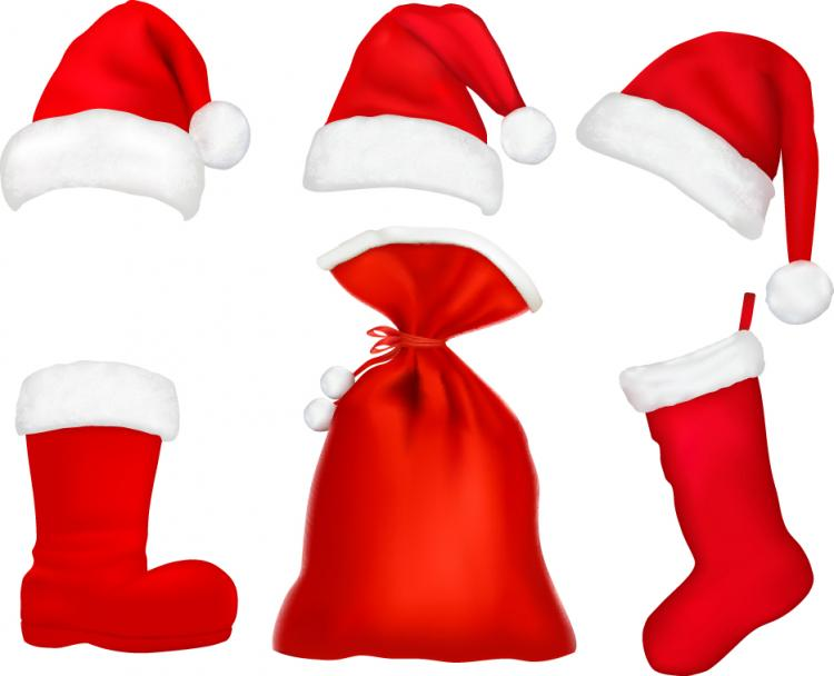 free vector Christmas hats 05 vector