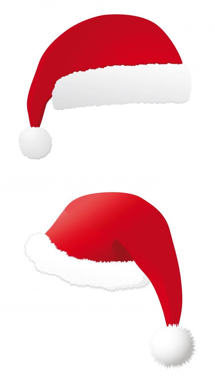 christmas hats vector free vector 4vector rh 4vector com Santa Hat No Background Santa Hat No Background