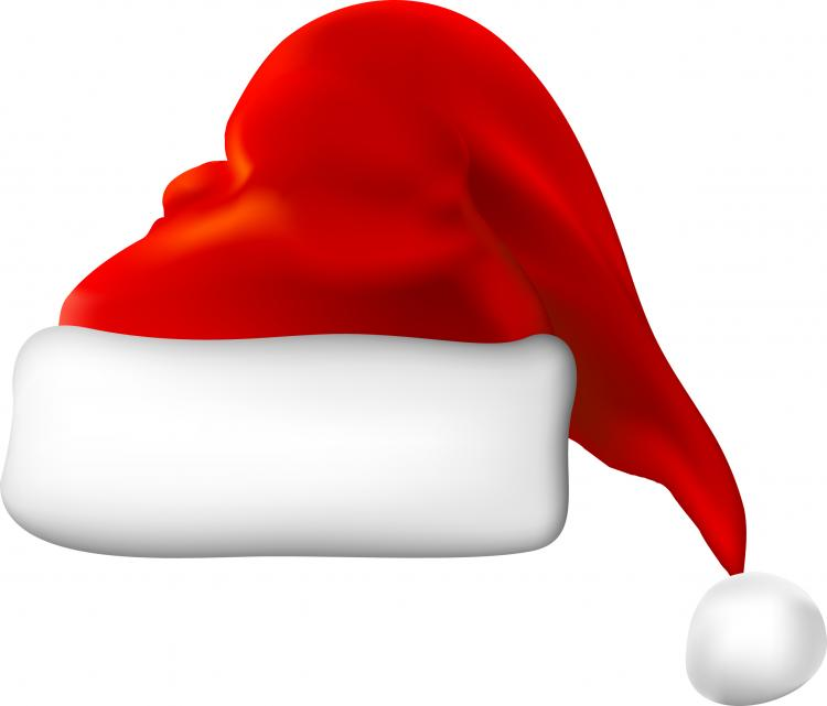 Christmas hats vector free