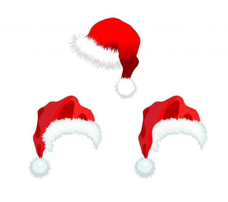 Christmas Hats Vector Free Vector 4vector