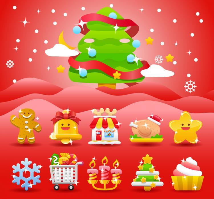 free vector Christmas holiday 01 vector