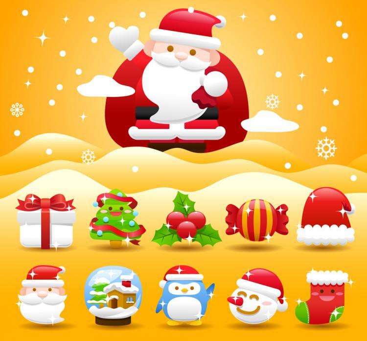 free vector Christmas holiday 02 vector