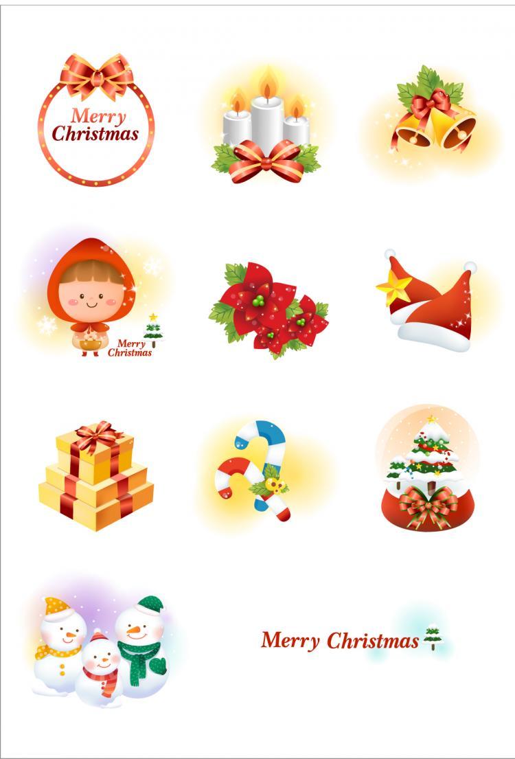 free vector Christmas icon vector 19156