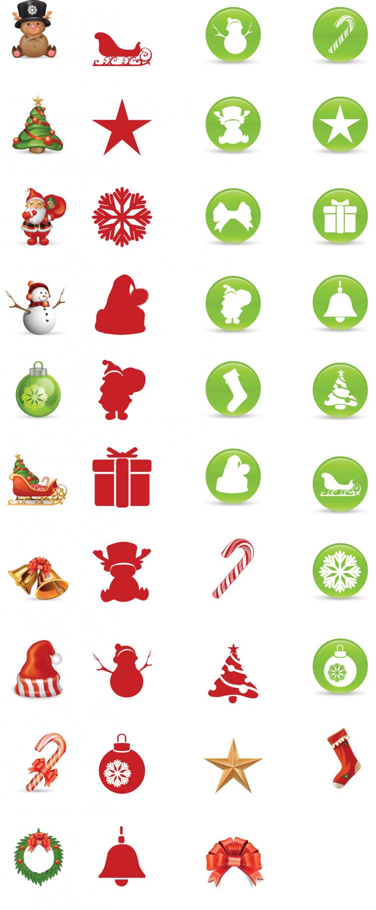 free vector Christmas Icons Vector 128754