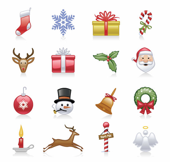 free vector Christmas Icons Vector Set
