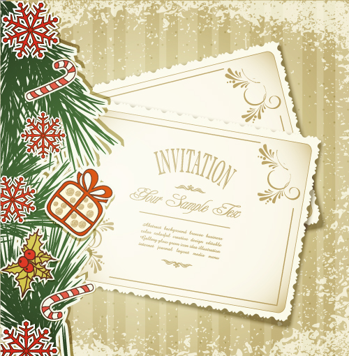 free vector Christmas label 05 vector