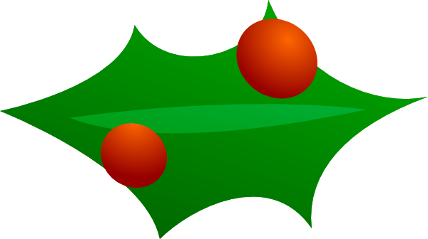 free vector Christmas Leaf Decoration clip art