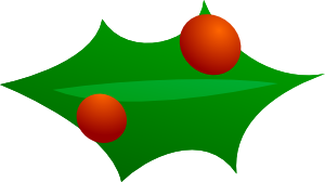 free vector Christmas Leaf Decoration clip art
