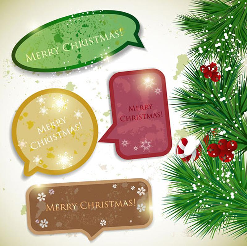 free vector Christmas notes 02 vector