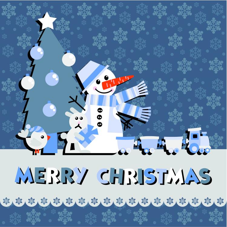 free vector Christmas notes stickers 03 vector