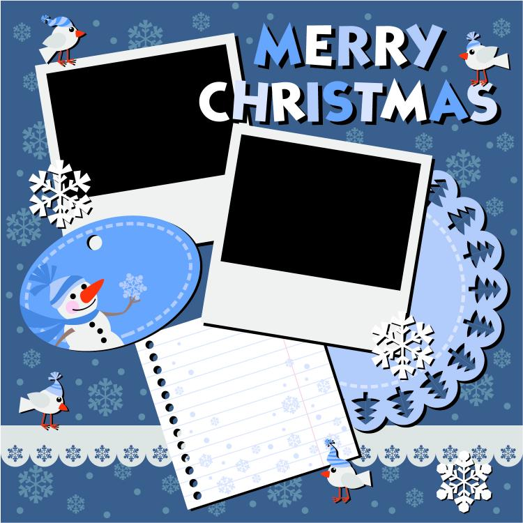 free vector Christmas notes stickers 05 vector