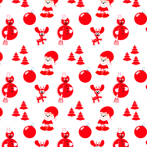 free vector Christmas ornaments around the product vector