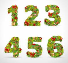 free vector Christmas ornaments consisting of digital 01 vector